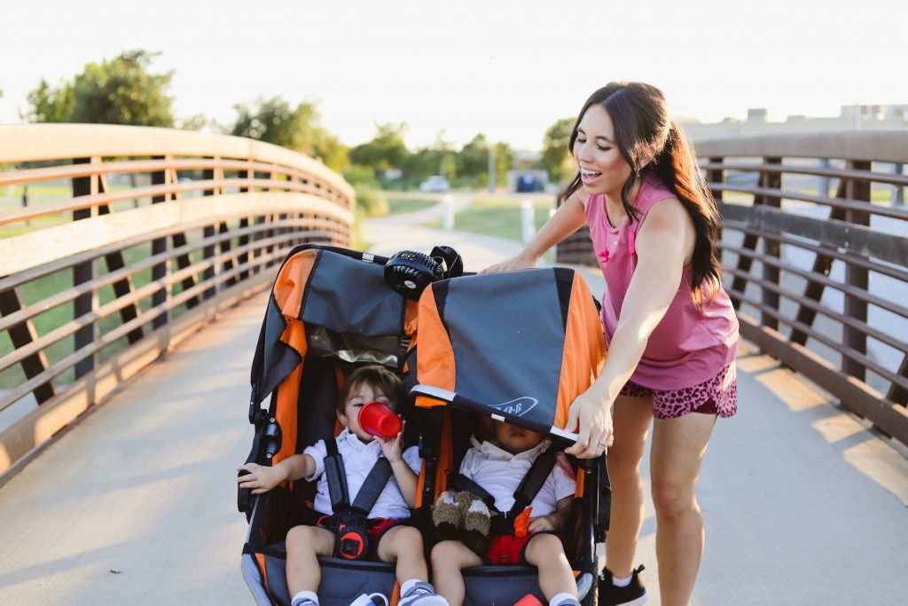Walmart outfits, baby, toddler, double jogging stroller